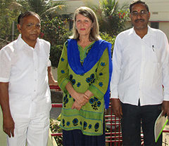 Monika Ratering, Sankranti e.V. mit indischen Partnern